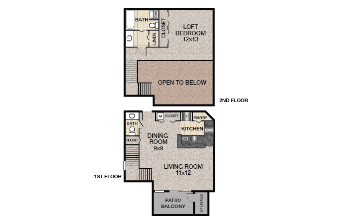 Sycamore Floor Plan | Bent Tree Apartments